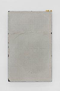 <p><em>Untitled (Learn to Lay Brick) III</em>, 2017<br /> Steel, concrete, iron-oxide, hematite, 160 × 100 cm<br /> Image: Bernhard Strauss</p>
