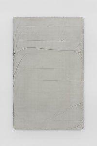 <p><em>Untitled (Learn to Lay Brick) II</em>, 2017<br /> Steel, concrete, iron-oxide, hematite, 160 × 100 cm<br /> Image: Bernhard Strauss</p>