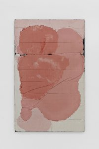 <p><em>Untitled (Learn to Lay Brick) IV</em>, 2017<br /> Steel, concrete, iron-oxide, hematite, 160 × 100 cm<br /> Image: Bernhard Strauss</p>