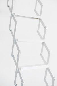 <p>Detail, <em>Tiramisu</em>, 2018<br /> Powder-coated aluminum<br /> 37,5–300 × 52 × 46 cm<br /> Image: Dominic Michel</p>