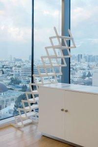 <p><em>You can catch Maria on the stairs</em>, 2018<br /> Powder-coated aluminum, 37.5 - 300 × 52 × 46 cm<br /> <em>The Untold Compromise</em>, 2019<br /> Ventilator, Tel-Aviv</p>